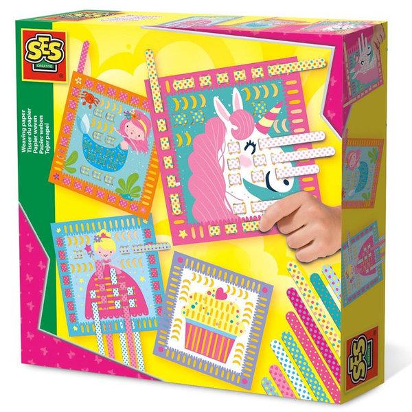 SES Creative - Направи картини с хартини лентички за тъкане 14101