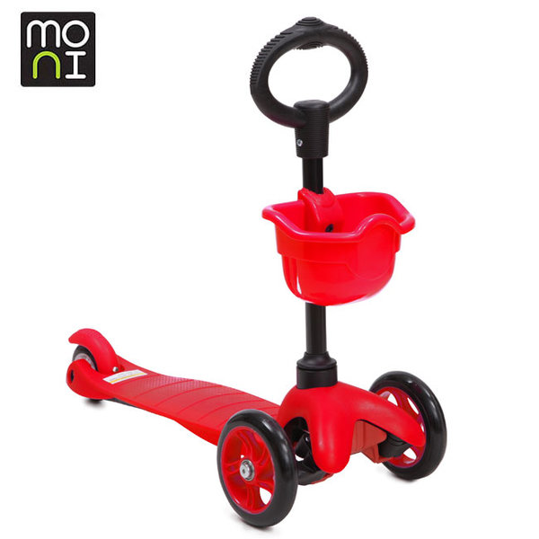 Moni - Детска тротинетка 2в1 3Go red 104052