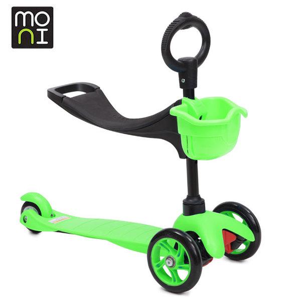 Moni - Детска тротинетка 2в1 3Go green 104049