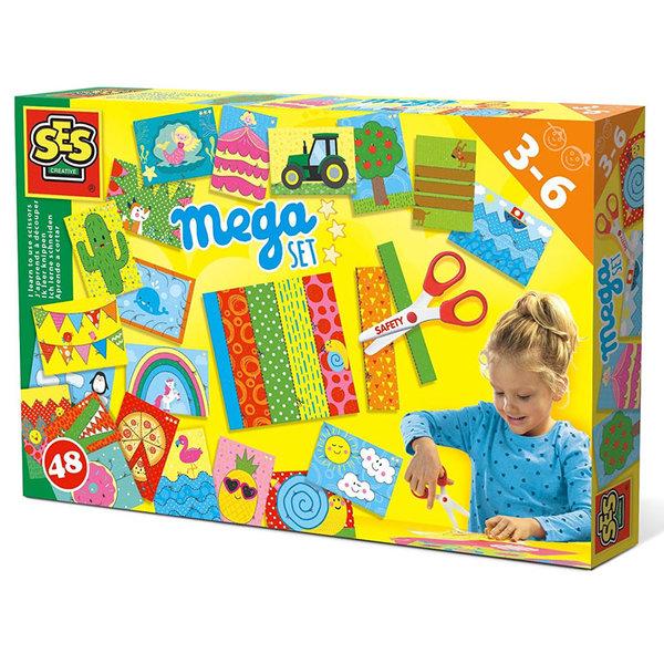 SES Creative - Комплект Уча се да режа с ножица Mega set 14617