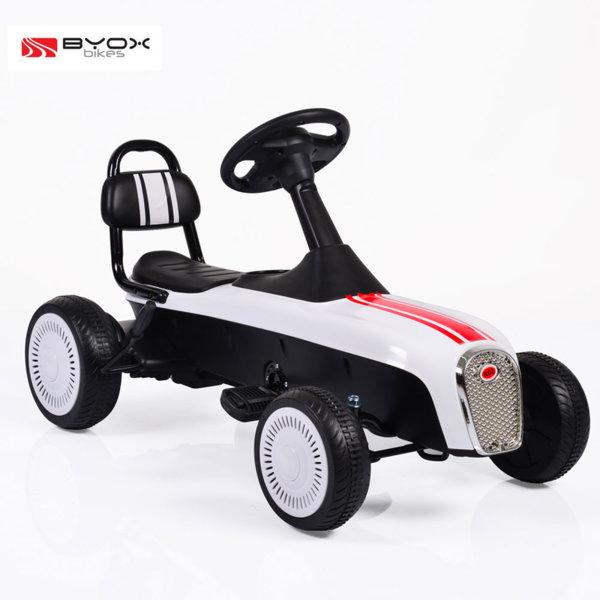 Byox Bikes - Детска картинг кола Retro white 3+ 104075