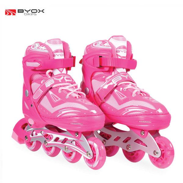 Byox Bikes - Детски ролери Sparkle pink M (34-37) 104027