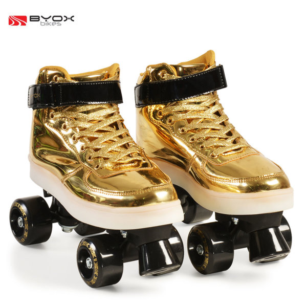Byox Bikes - Детски светещи кънки Golden M (35-36) 104570