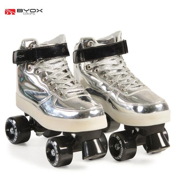 Byox Bikes - Детски светещи кънки Silver S (33-34) 104562