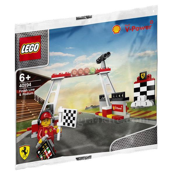 Lego 40194 Racers - Ferrari Финиш и подиум