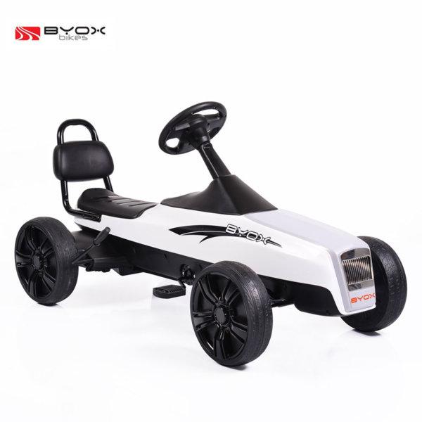 Byox Bikes - Детска картинг кола Happy Baby бяла 5+ 104073
