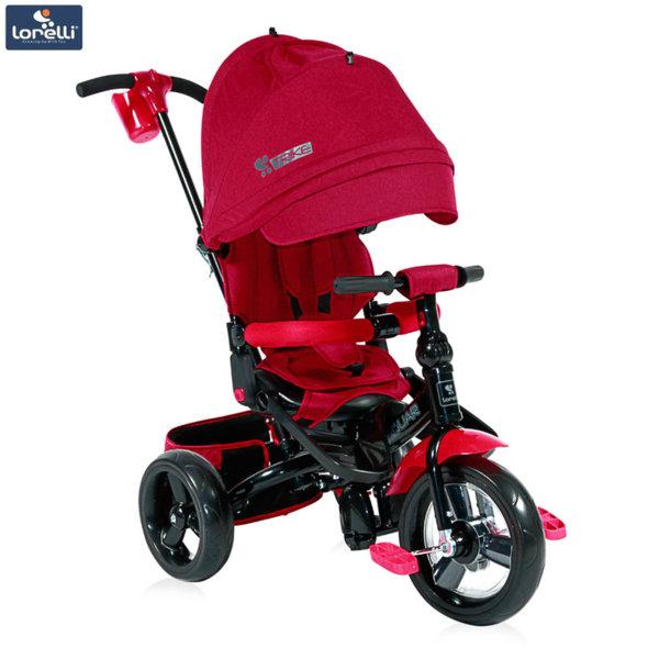 Lorelli - Триколка с родителски контрол Jaguar Червена