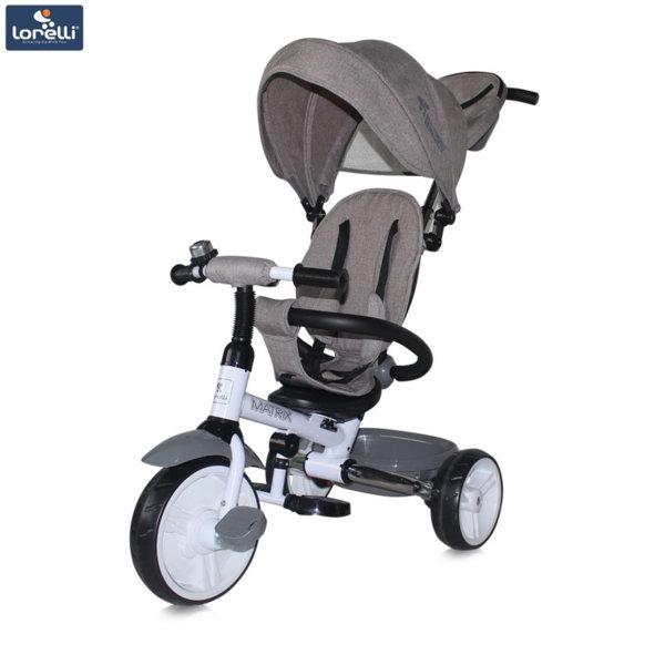 Lorelli - Триколка с родителски контрол Matrix EVA гуми Сива