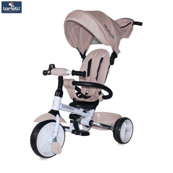 Lorelli - Триколка с родителски контрол Matrix EVA гуми Бежова