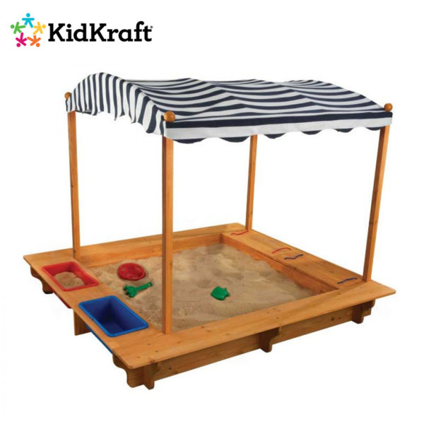 KidKraft - Детски дървен пясъчник с тента 165