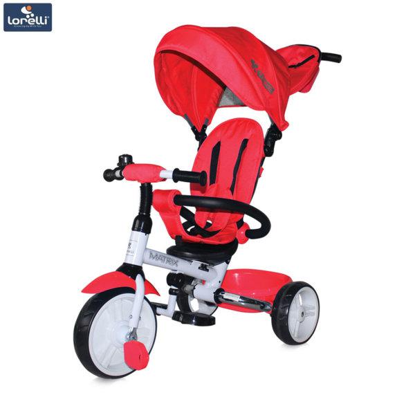 Lorelli - Триколка с родителски контрол Matrix EVA гуми Червена