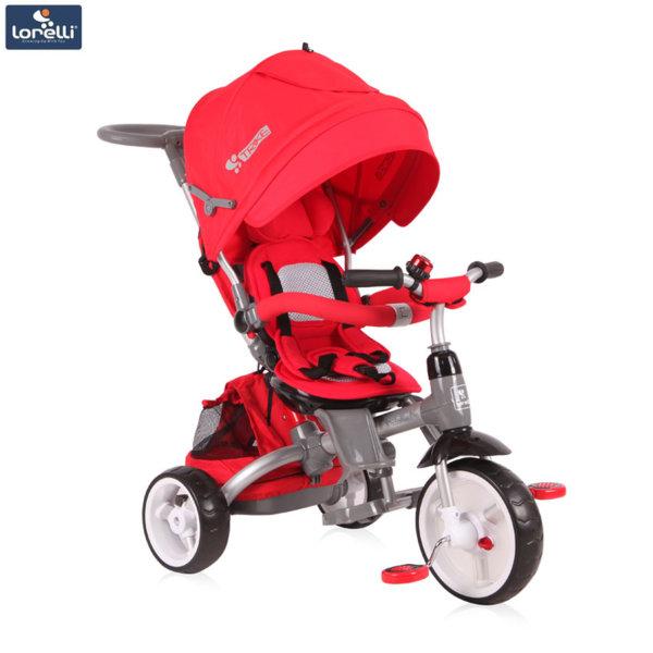 Lorelli - Триколка с родителски контрол Hot Rock Червена