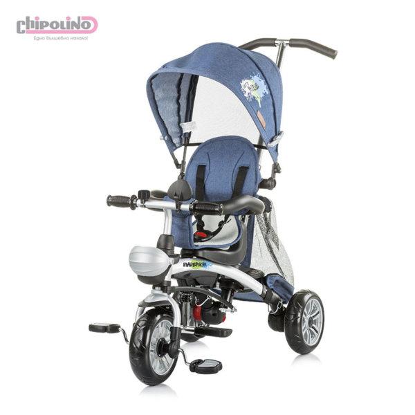 Chipolino - Триколка със сенник и родителски контрол Маверик дънки синя