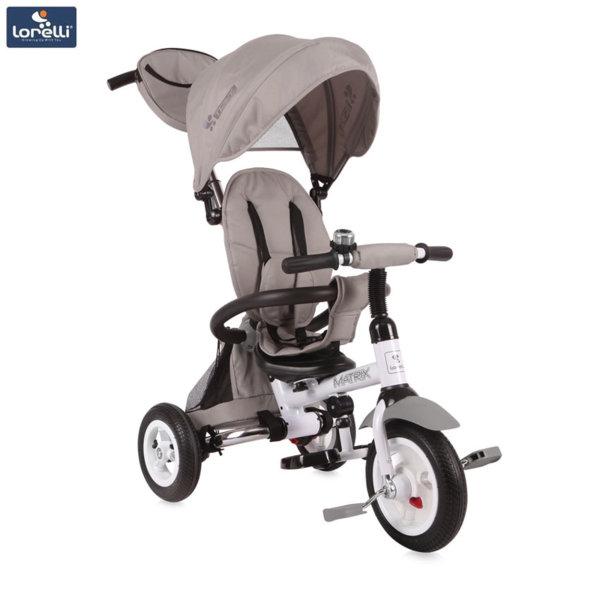 Lorelli - Триколка с родителски контрол Matrix AIR гуми Сива