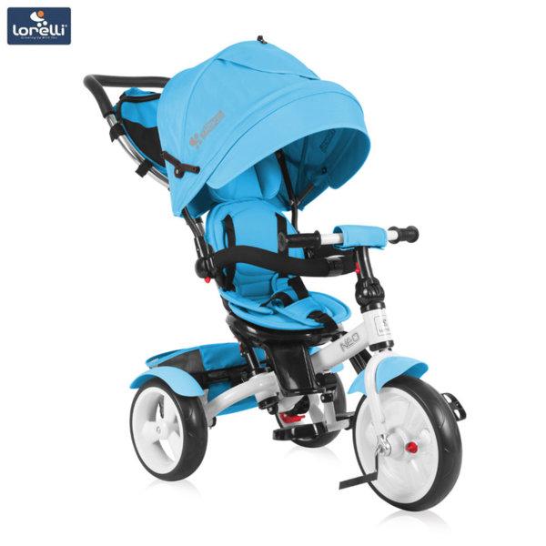 Lorelli - Триколка с родителски контрол NEO EVA гуми Светлосиня