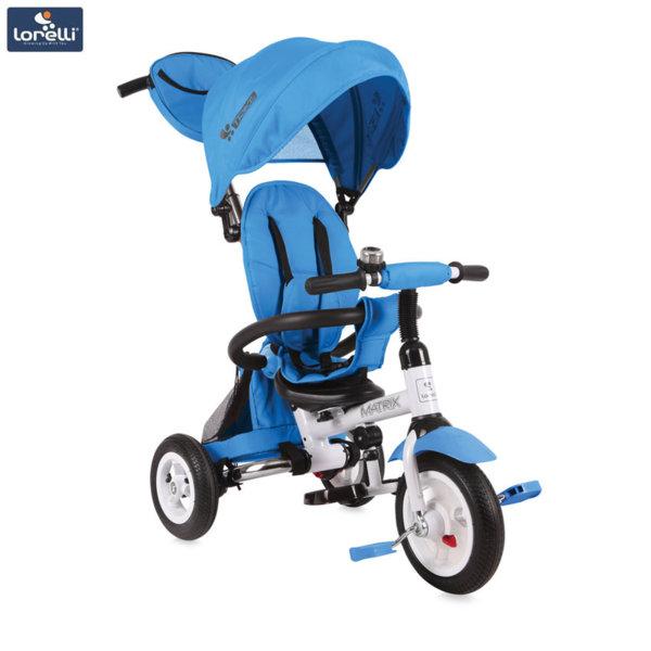 Lorelli - Триколка с родителски контрол Matrix AIR гуми Светлосиня