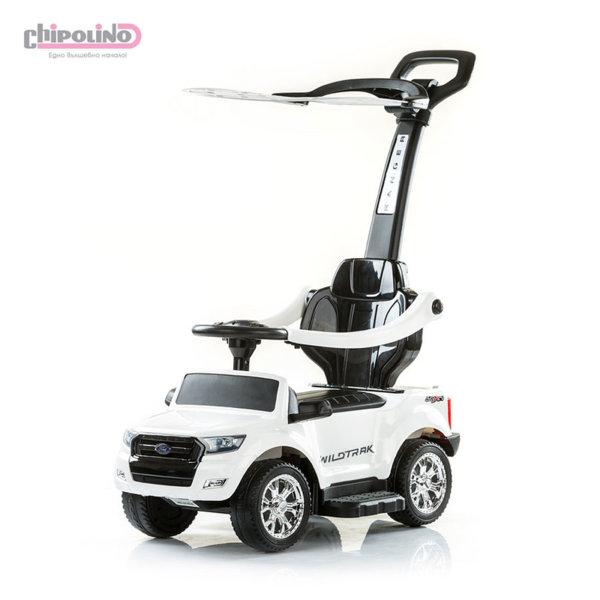 Chipolino - Кола за яздене с родителски контрол и сенник Форд бяла