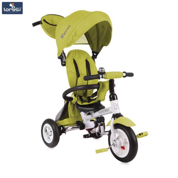 Lorelli - Триколка с родителски контрол Matrix AIR гуми Светлозелена