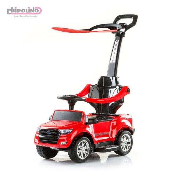 Chipolino - Кола за яздене с родителски контрол и сенник Форд червена
