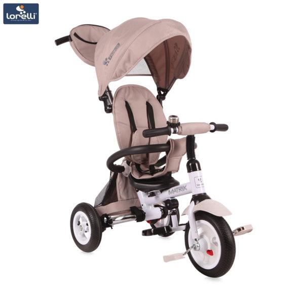 Lorelli - Триколка с родителски контрол Matrix AIR гуми Бежова
