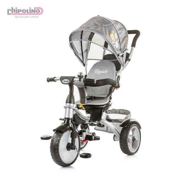 Chipolino - Триколка със сенник и родителски контрол Рапидо пепел