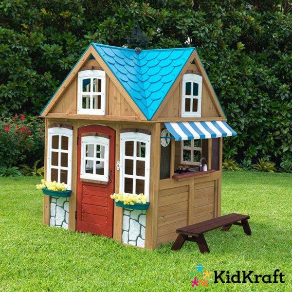 KidKraft - Детска дървена къща за игра Seaside Cottage 10025
