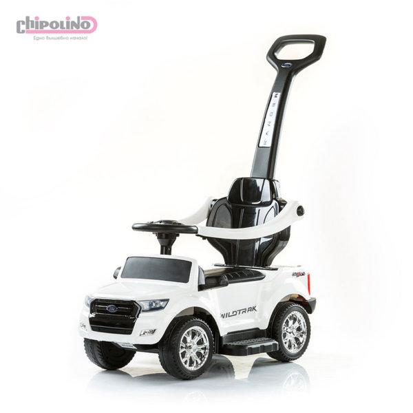 Chipolino - Кола за яздене с росителски контрол Форд бяла