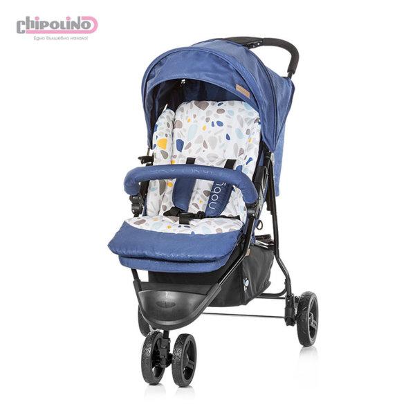 Chipolino - Лятна бебешка количка триколка Ноби синьо индиго