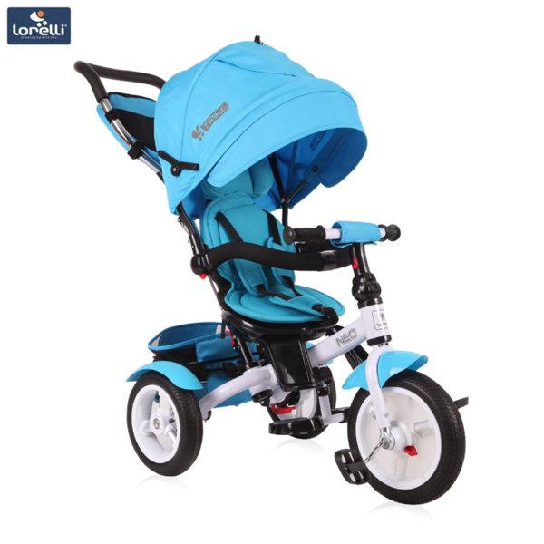 Lorelli - Триколка с родителски контрол NEO AIR гуми Светлосиня