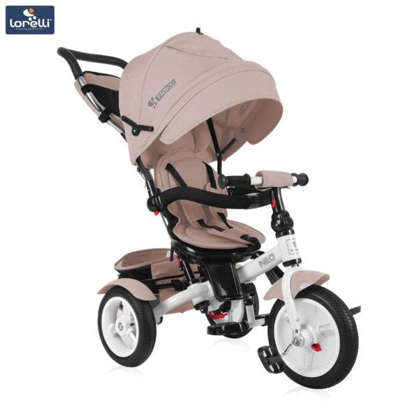 Lorelli - Триколка с родителски контрол NEO AIR гуми Бежова