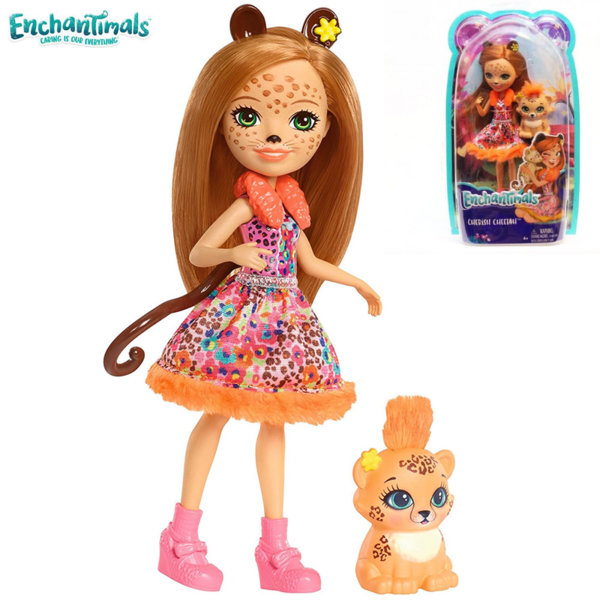 Enchantimals - Кукла Гепард Cherish Cheetah и гепардчето Quick-Quick FJJ20/FNH22