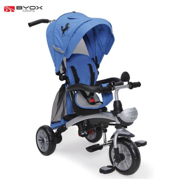 Byox Bikes - Детска триколка Mustang blue 103761