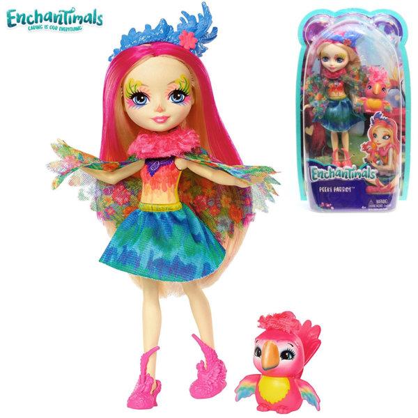 Enchantimals - Кукла Папагал Peeki Parrot и папагалчето Sheeny FJJ21/FNH22