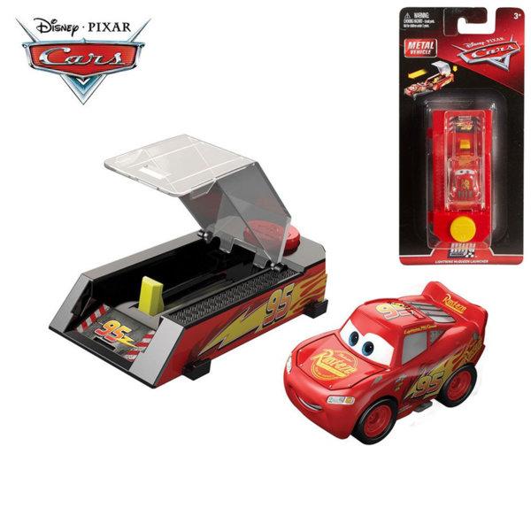 Mattel - Disney Cars Мини количка с изстрелвачка МакКуин Светкавицата FLG40