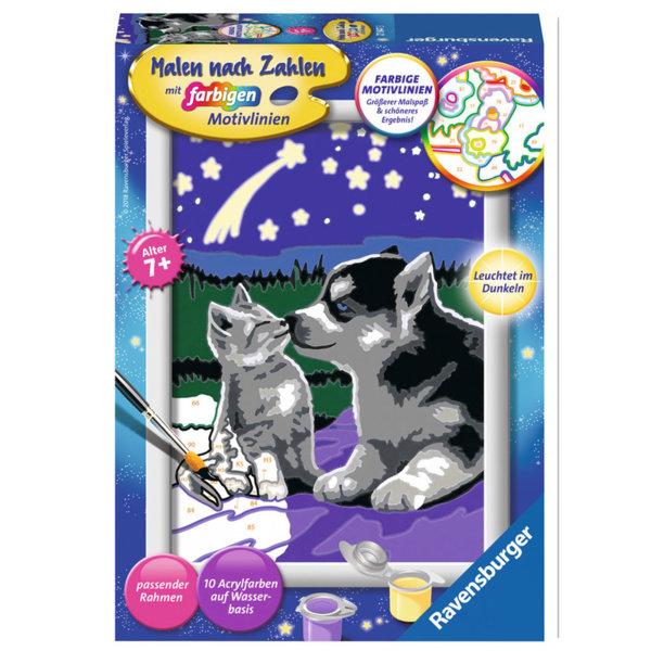 Ravensburger - Рисуване по номера 7+ Куче и коте 27847