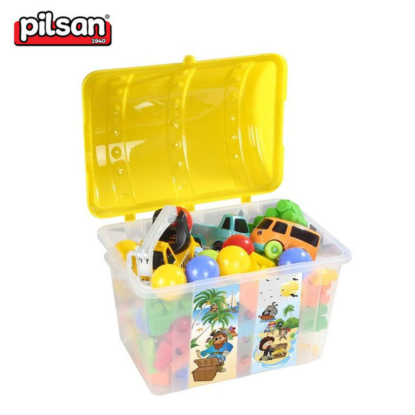 Pilsan - Кош за играчки Пирати жълт 06189