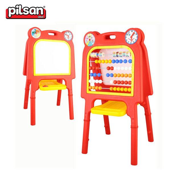 Pilsan - Дъска за рисуване и сметало 2в1 03406 червена