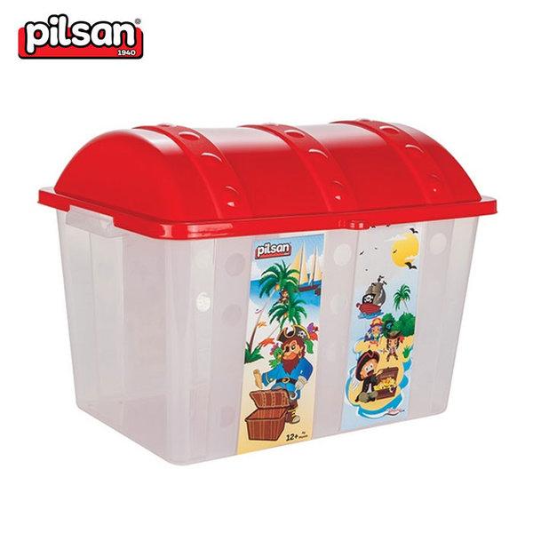 Pilsan - Кош за играчки Пирати червен 06189