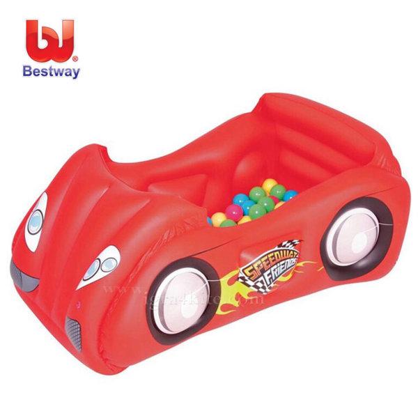 Bestway - Детска надуваема кола с 50 топки 52159f