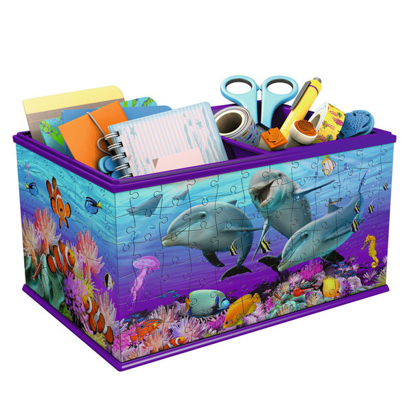 Ravensburger - Пъзел 3D 9+ Кутия за съхранение Морско дъно 216 части 12115
