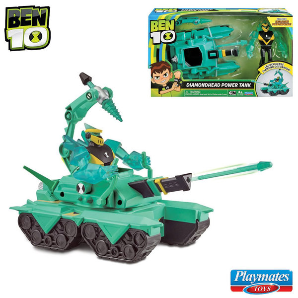 Ben 10 - Бен Тен Бойна машина Power Tank с фигура Diamondhead 77400