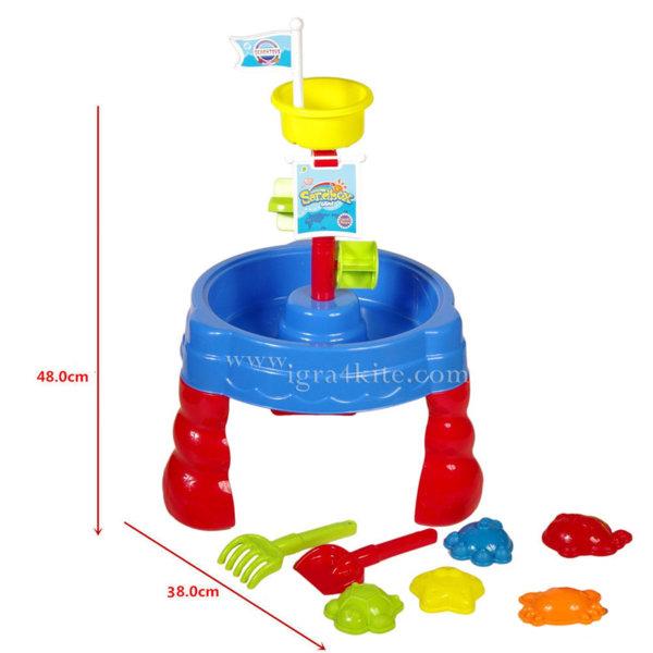 Детска маса за игра с пясък и вода Мелница 1422151