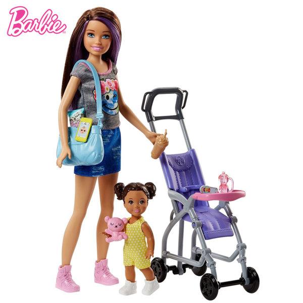 Barbie - Барби Skipper Babysitters Кукла Барби детегледачка На разходка FHY97