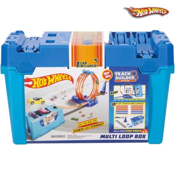 Hot Wheels - Писта за сглобяване в кутия Multi Loop Box Track Builder FLK89