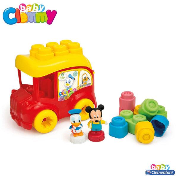 Clementoni Clemmy - Детски конструктор количка Дисни Мики Маус 14792