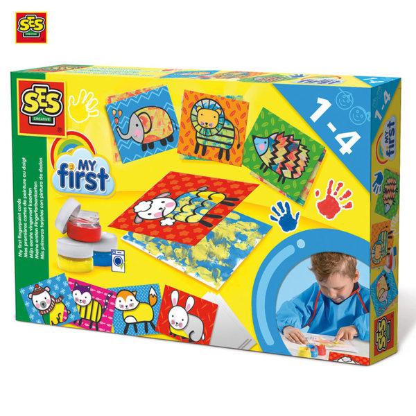 SES Creative - Комплект за оцветяване с пръсти 14415