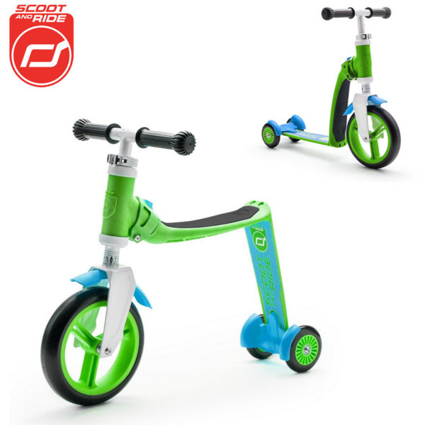 Scoot & Ride - Детска тротинетка и балансиращо колело 2в1 Highwaybaby+ 96195