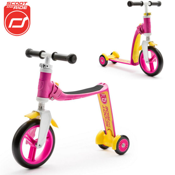 Scoot & Ride - Детска тротинетка и балансиращо колело 2в1 Highwaybaby+ 96194