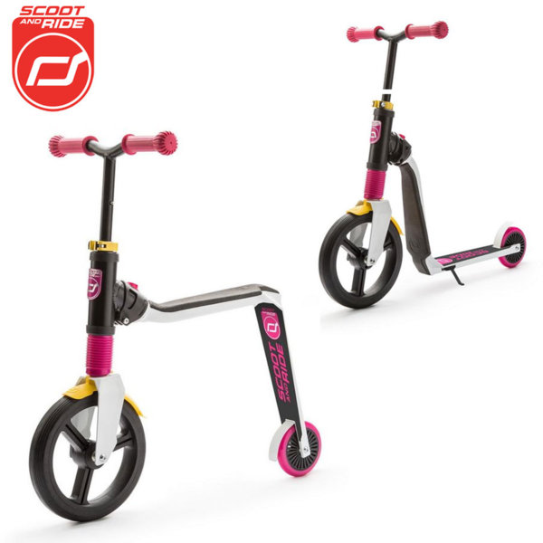 Scoot & Ride - Детска тротинетка и балансиращо колело 2в1 Highwayfreak 96175