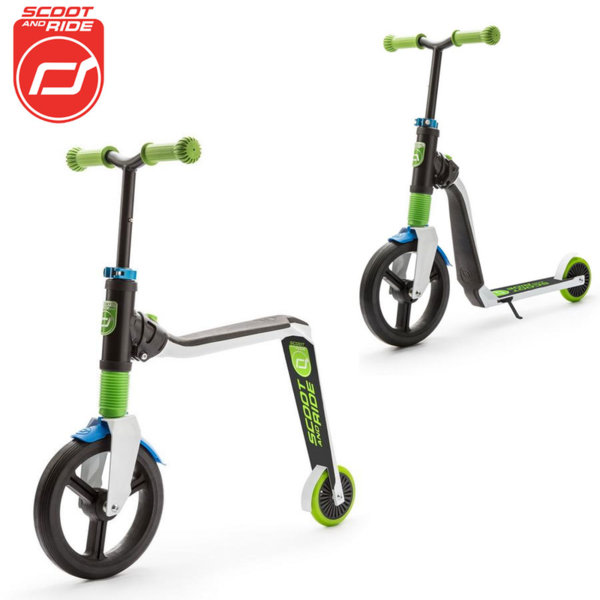 Scoot & Ride - Детска тротинетка и балансиращо колело 2в1 Highwayfreak 96176